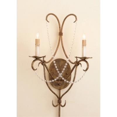Currey and Company 5880 2 Light Crystal Lights Wall Sconce