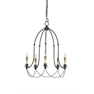Currey and Company 9169 Derrymore - Five Light Chandelier
