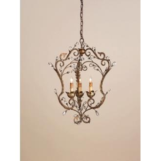 Currey and Company 9225 3 Light Melody Chandelier