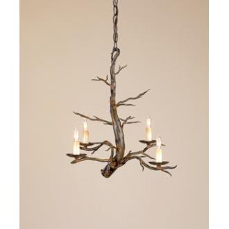 Currey and Company 9307 4 Light Treetop Small Chandelier