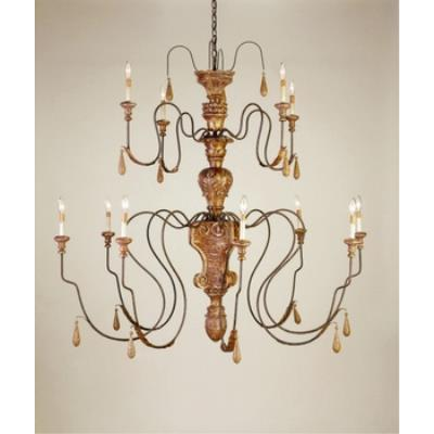 Currey and Company 9314 12 Light Mansion Large Chandelier
