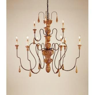 Currey and Company 9324 9 Light Mansion Medium Chandelier