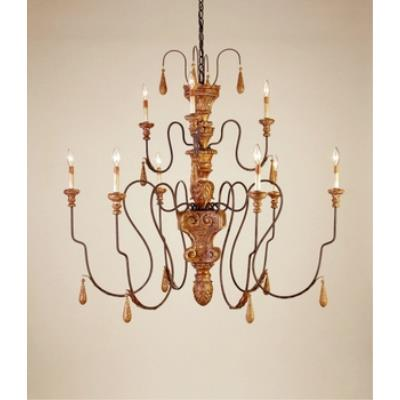 Currey and Company 9324 9 Light Mansion Medium Chandelier