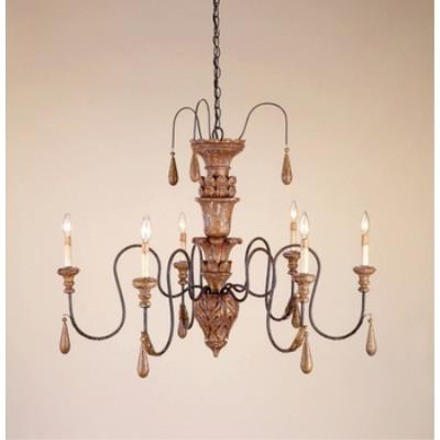 Currey and Company 9334 6 Light Mansion Small Chandelier