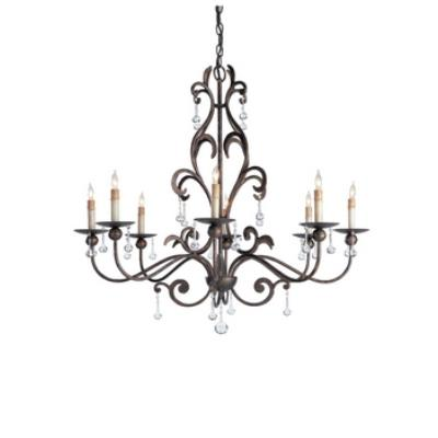 Currey and Company 9380 8 Light Pompeii Chandelier