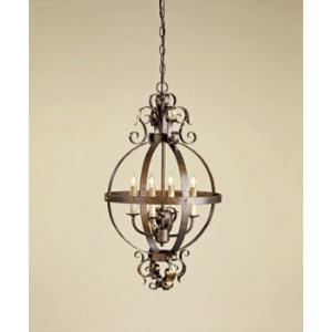 4 Light Coronation Sphere Chandelier