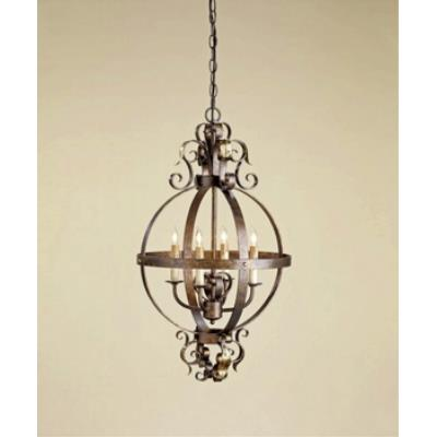 Currey and Company 9390 4 Light Coronation Sphere Chandelier