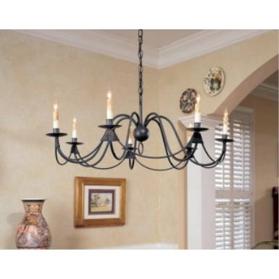 Currey and Company 9500 7 Light French Nouveau Chandelier