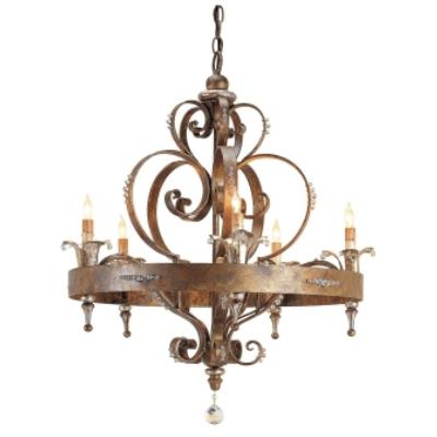 Currey and Company 9526 5 Light Salzburg Chandelier