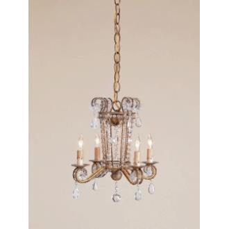Currey and Company 9544 4 Light Serendipity Chandelier