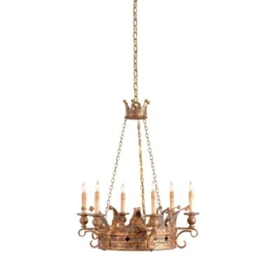 Currey and Company 9547 6 Light Crown Chandelier