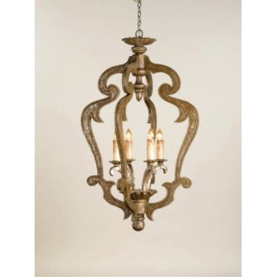 Currey and Company 9608 4 Light Chancellor Chandelier