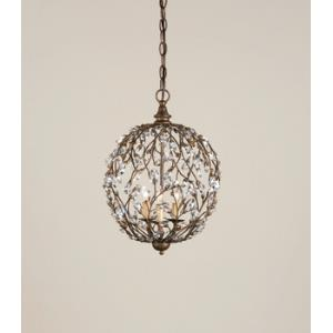 3 Light Crystal Bud Sphere Chandelier