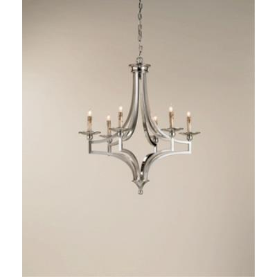 Currey and Company 9674 6 Light Nocturne Chandelier