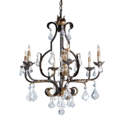 Currey and Company 9828 6 Light Tuscan Chandelier