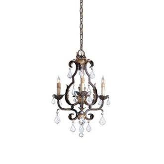 Currey and Company 9829 3 Light Tuscan Chandelier