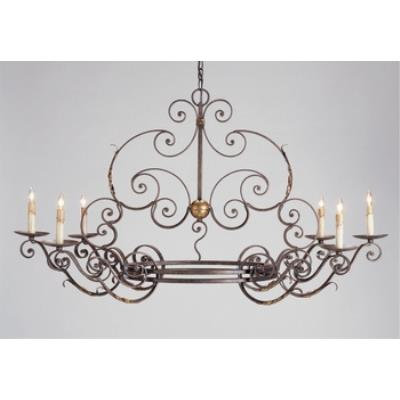 Currey and Company 9855 6 Light Argosy Oval Chandelier
