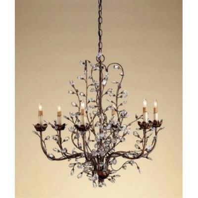 Currey and Company 9882 6 Light Crystal Bud Chandelier