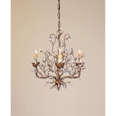 Currey and Company 9883 3 Light Crystal Bud Chandelier