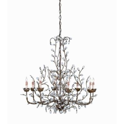Currey and Company 9884 8 Light Crystal Bud Chandelier