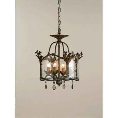 Currey and Company 9979 4 Light Zara Flush Mount