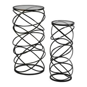 """28"""" Spiral Table - Set of 2"""