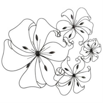 """Cyan lighting 05832 Fancy Flower - 24"""" Decorative Wall Art"""
