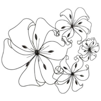 "Cyan lighting 05832 Fancy Flower - 24"" Decorative Wall Art"