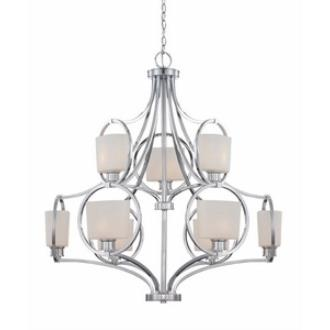 Designers Fountain 84089-CH Mirage - Nine Light Chandelier