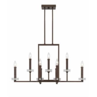 Designers Fountain 84389-FBZ Fieldhouse - Nine Light Chandelier