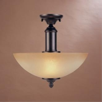 Designers Fountain 94011-ORB Apollo Semi Flush