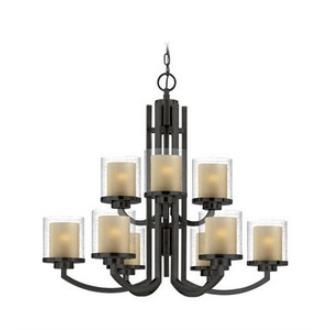 Dolan Lighting 2952-78 Horizon - Nine Light 2-Tier Chandelier