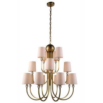 Elegant Lighting 1444D33 Toscana - Sixteen Light 3-Tier Pendant