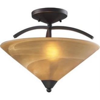 Elk Lighting 7643/2 Elysburg - Two Light Semi Flush Mount