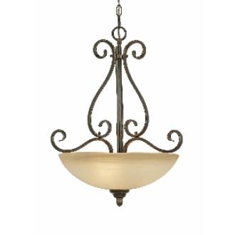 Golden Lighting 1567-3P PC Riverton - 3 Light Pendant Bowl