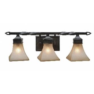 Golden Lighting 1850-BA3 RT Genesis -  Three Light Vanity
