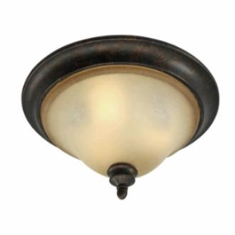 Golden Lighting 3966-FM FB Portland Flush Mount