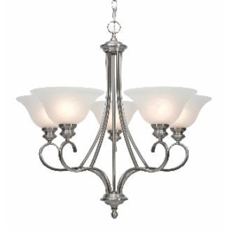 Golden Lighting 6005-5 PW 5 Light Chandelier