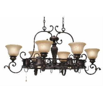 Golden Lighting 6029-PR62 EB Pot Rack