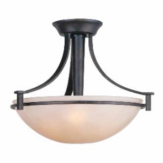 Golden Lighting 6262-SF DNI Hampden - Three Light Semi-Flush Mount
