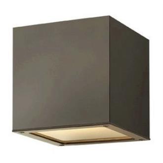 Hinkley Lighting 1766BZ Kube - One Light Outdoor Wall Sconce