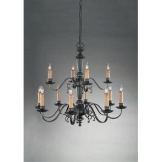 Holtkotter Lighting 2742 Flemish - Twelve Light Chandelier