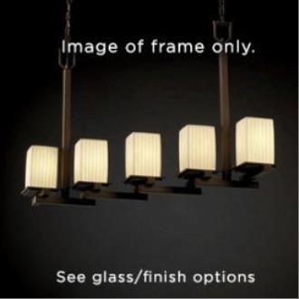 Justice Design FSN-8687 Montana Five Light Zig-Zag Chandelier