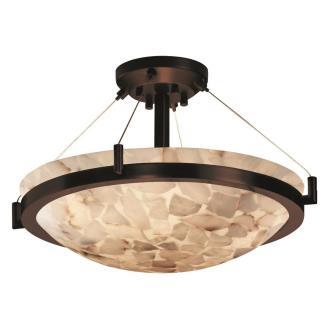 "Justice Design ALR-9681 18"" Round Semi-Flush Bowl"