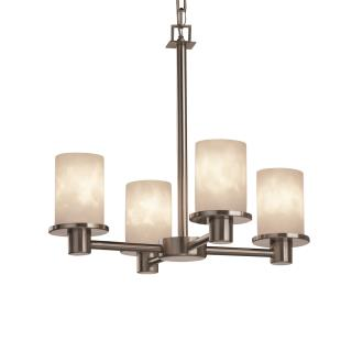 Justice Design CLD-8510 Clouds - Four Light Rondo Chandelier