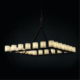 Justice Design CLD-8616 Clouds - Twenty-Four Light Montana Ring Chandelier