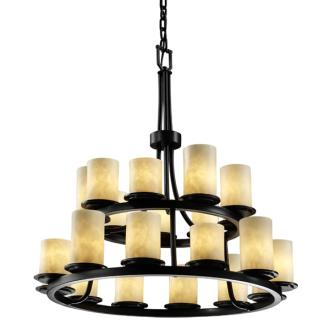 Justice Design CLD-8767 Dakota 21-Light 2-Tier Ring Chandelier