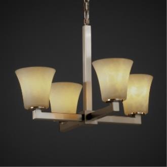 Justice Design CLD-8829 Modular Four Light Chandelier