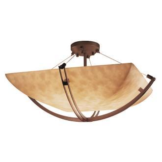 """Justice Design CLD-9711 18"""" Semi-Flush Bowl"""