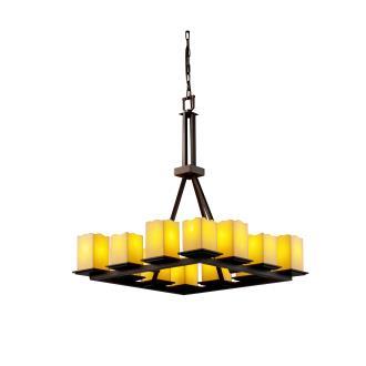 Justice Design CNDL-8663 Montana - Twelve Light Tall Ring Chandelier
